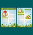 easter egg hunt celebration brochure template vector image