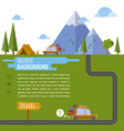 Family traveling in car Background tent mountain vector image