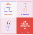 happy valentines day gift card you are my every vector image