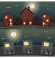 Set of Halloween backgrounds for banners vector image