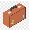 Tourist bag isometric 3d icon vector image