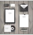 Premium corporate identity template set Business vector image vector image
