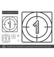 Film countdown line icon vector image