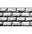 Texture white decorative tiles in form of brick vector image