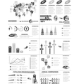 INFOGRAPHIC DEMOGRAPHICS WEB ELEMENTS GREY vector image vector image