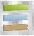 pastel web ribbons set vector image vector image