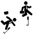 Business hurdles vector image