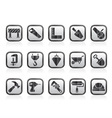 Construction industry and Tools icons vector image vector image