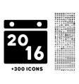 2016 Calendar Icon vector image