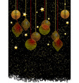 Christmas baubles and stars portrait background vector image