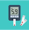 blood glucose meter blood sugar readings vector image