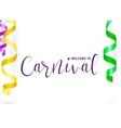 carnival card with vector image