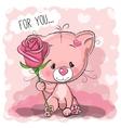 Greeting card cute Cat vector image