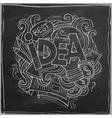 Idea hand lettering On Chalkboard vector image