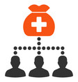medical fund clients flat icon vector image