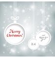 Xmas balls on Cristmas background vector image