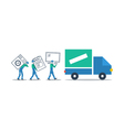 Delivery company truck transportation vector image
