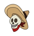 Isolated mexican male skull design vector image