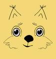 squirrel cute head cartoon vector image