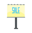 outdoor unipole banner billboard with sale word vector image