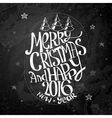 Christmas Calligraphic Text vector image vector image