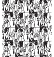 Crowd business people seamless pattern vector image