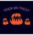 Evil pumpkin vector image vector image