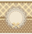 background card with a cloth napkin and bow vector image