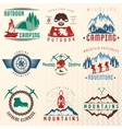 Mountain Expeditions Colorful Emblems vector image