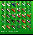 Asian soccer teams vector image