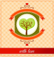 combination of heart and tree ornament vector image