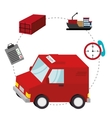 delivery cargo truck vector image