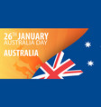 independence day of australia flag and patriotic vector image