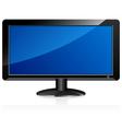 LCD television monitor vector image