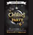 merry christmas party and ball on dark background vector image