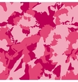 military camouflage pattern Pink hand vector image