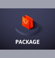 package isometric icon isolated on color vector image