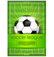 playing field ball green background soccer vector image