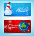shiny christmas horizontal banners vector image