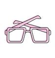 squared sunglasses icon image vector image
