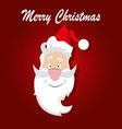 Santa Claus on a red background vector image