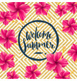 welcome summer - vector image vector image