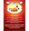 Thanksgiving Vertical Background Template vector image