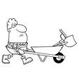 Farmer carrying tools cartoon vector image vector image