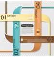 Modern infographics options banner vector image
