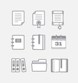 Office documents icons set vector image