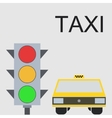 modern taxi background vector image