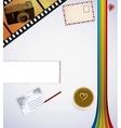 retro desk vector image vector image