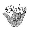 surfing sumbol shaka vector image