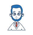 doctor man people character with blue hair image vector image